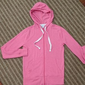 J. Crew Spring 2020 Neon Pink Zip  Hoodie XS
